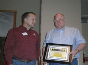 Chamber Business of the Year, 2011 - Cloud Peak Energy (Sam Street accepting the award)