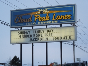 Cloud Peak Lanes - Sign
