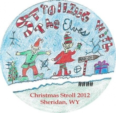Christmas Stroll Button 2012