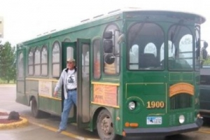 Historic Sheridan Trolley and Rider