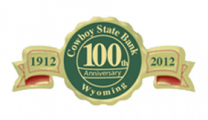 Cowboy State Bank - 100th Anniversary logo