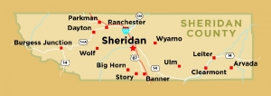 Sheridan County Map